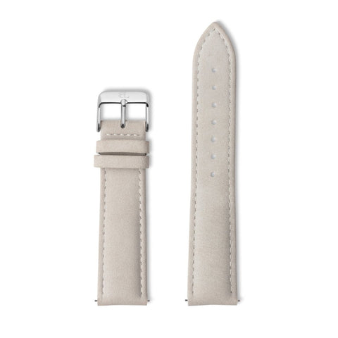 Grey Leather 40 Strap (Silver)