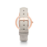 Grey Leather 34 Strap (Rose Gold)