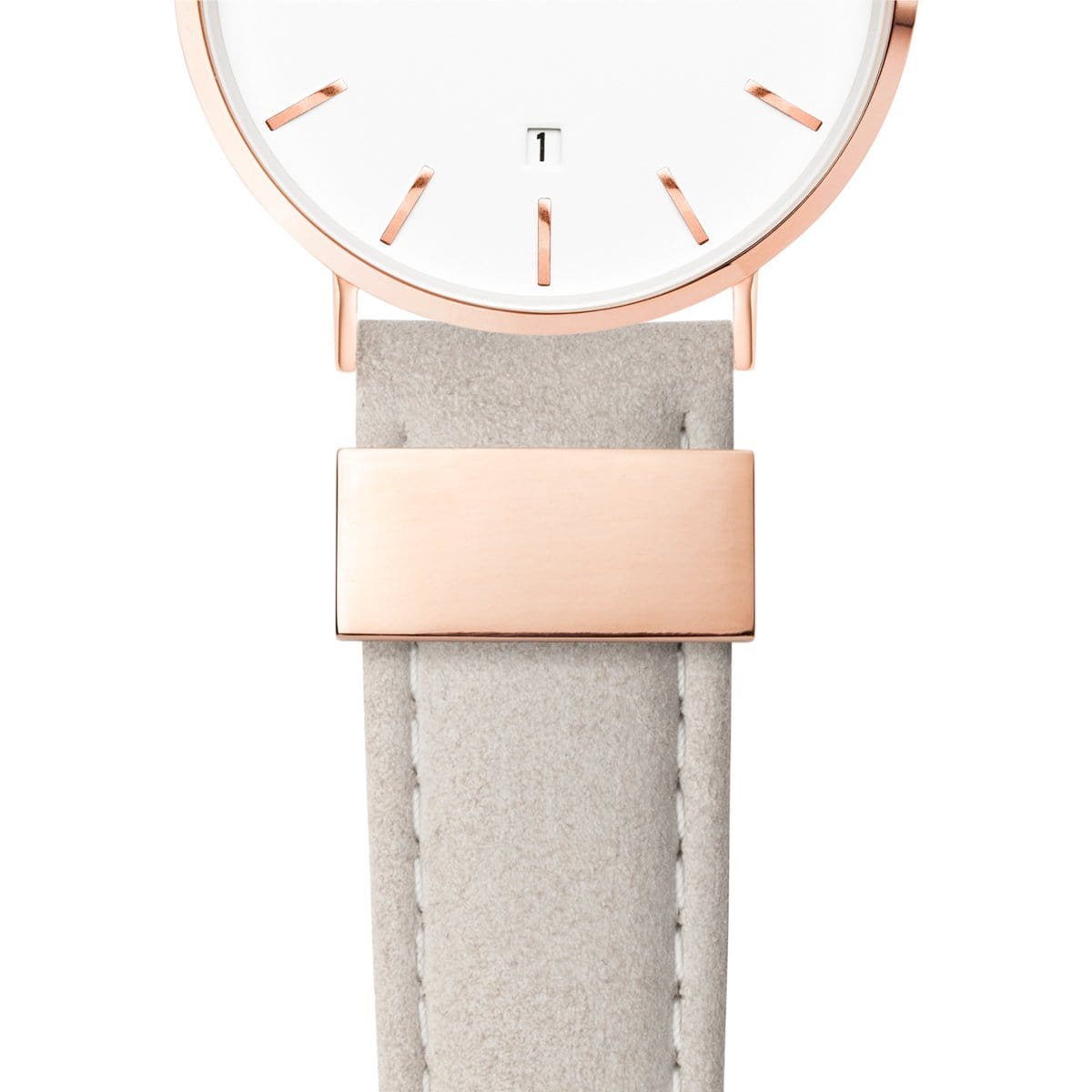 Mist Grey Leather Kensington 40 (Rose/White)