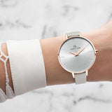 Grey Leather Minimale 38 (Rose/White)