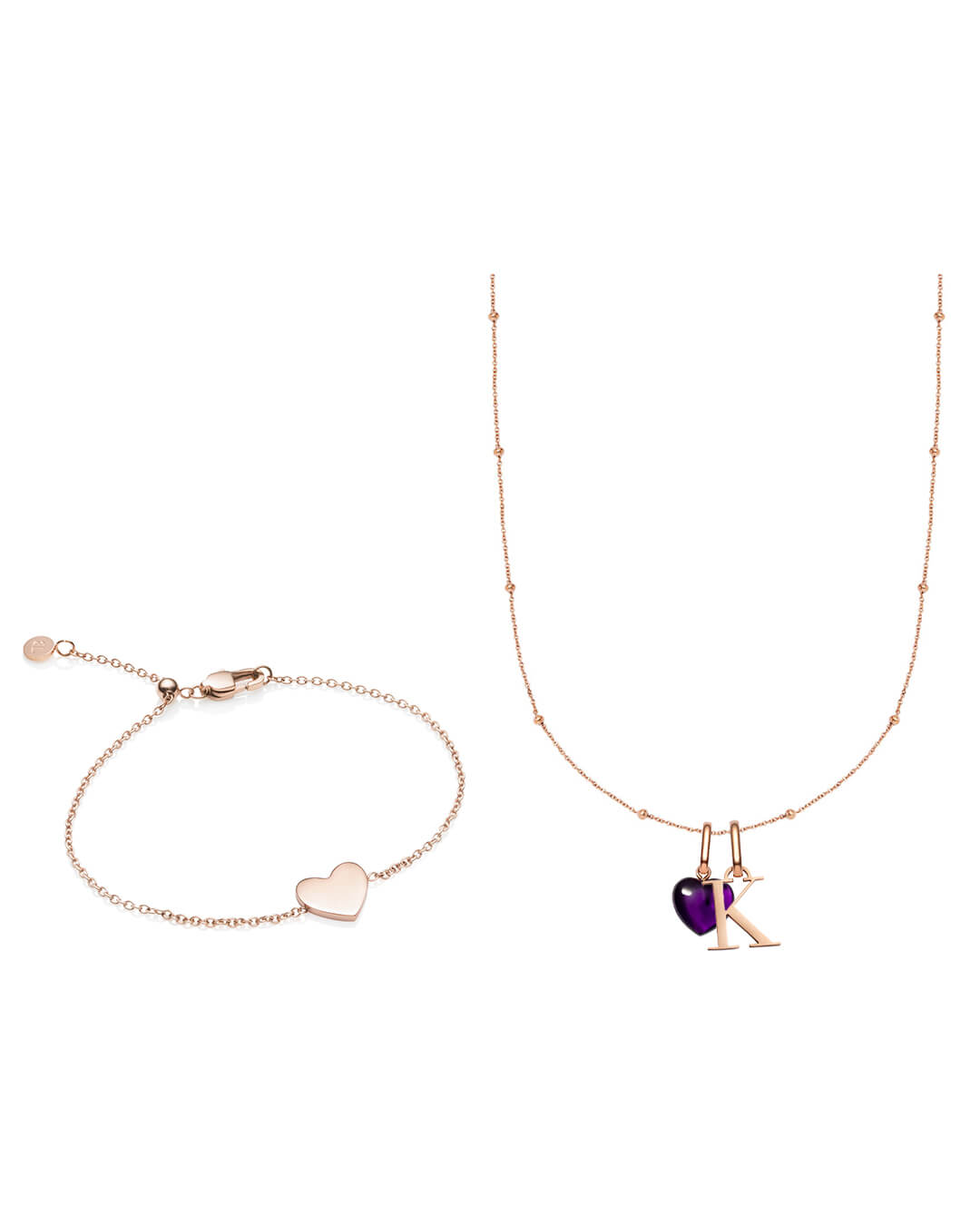 Letter & Birthstone Sphere Chain Gift Set