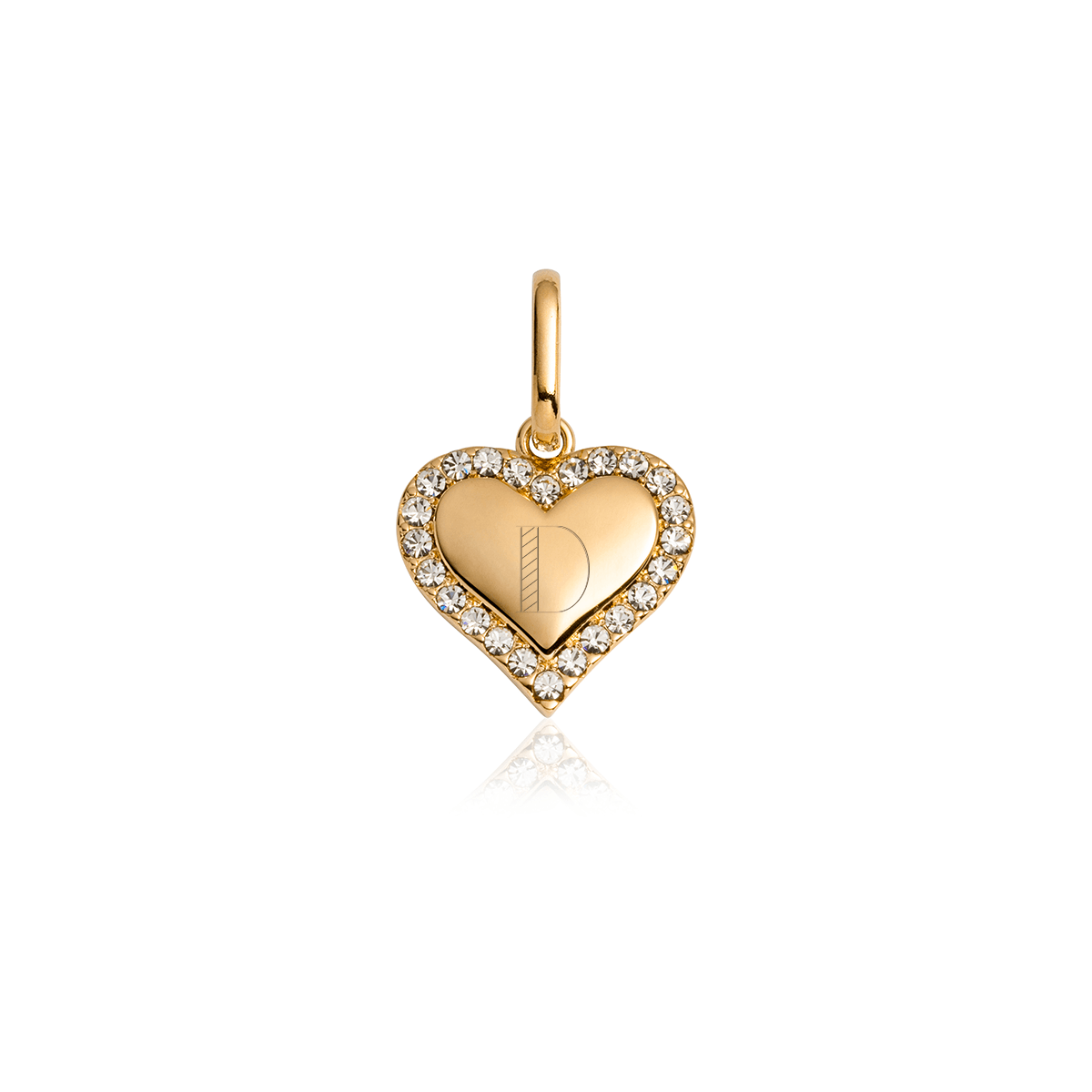 Crystal Heart Pendant (Gold)