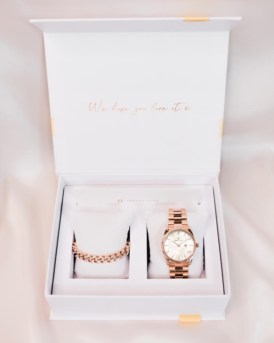 Belgravia Crystal Gift Set (Rose Gold)