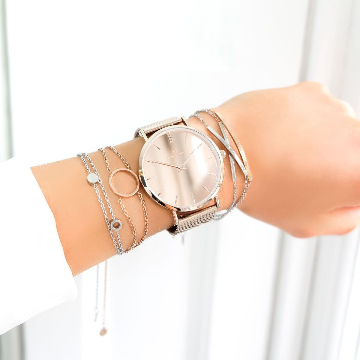Little Luxe Bar Bracelet (Rose Gold)