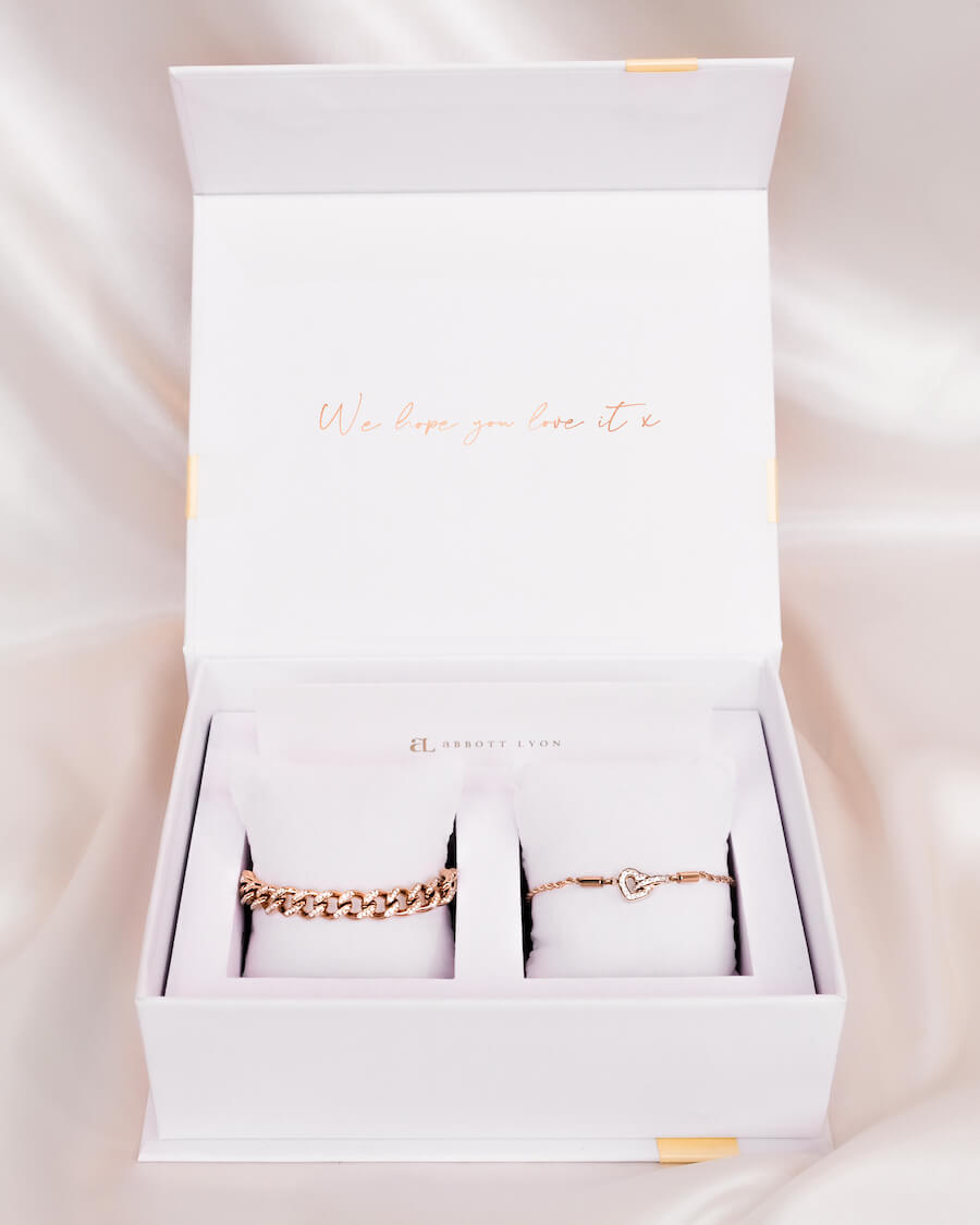 Crystal Heart Gift Set (Rose Gold)