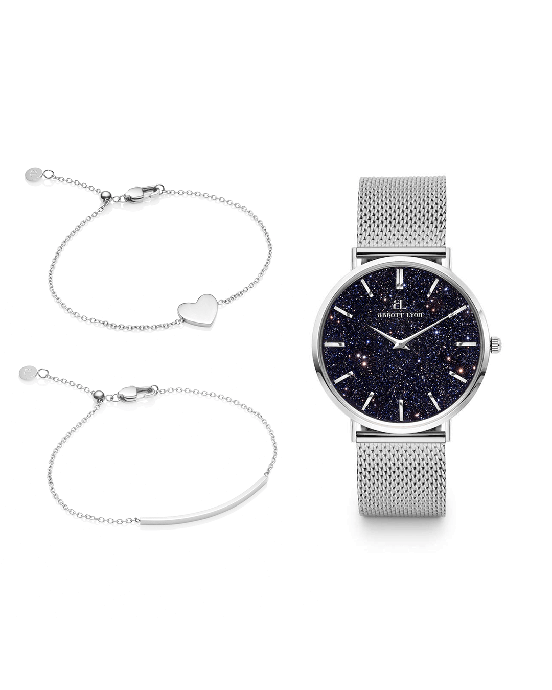 Silver Chain Midnight Blue Estrella & Little Luxe Gift Set