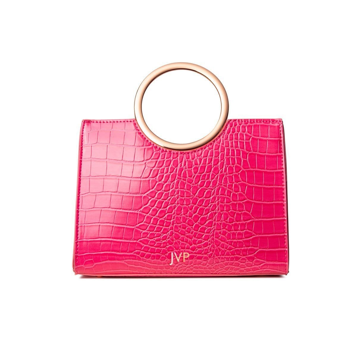 Arora Handle Bag (Fuchsia Pink/Rose Gold)