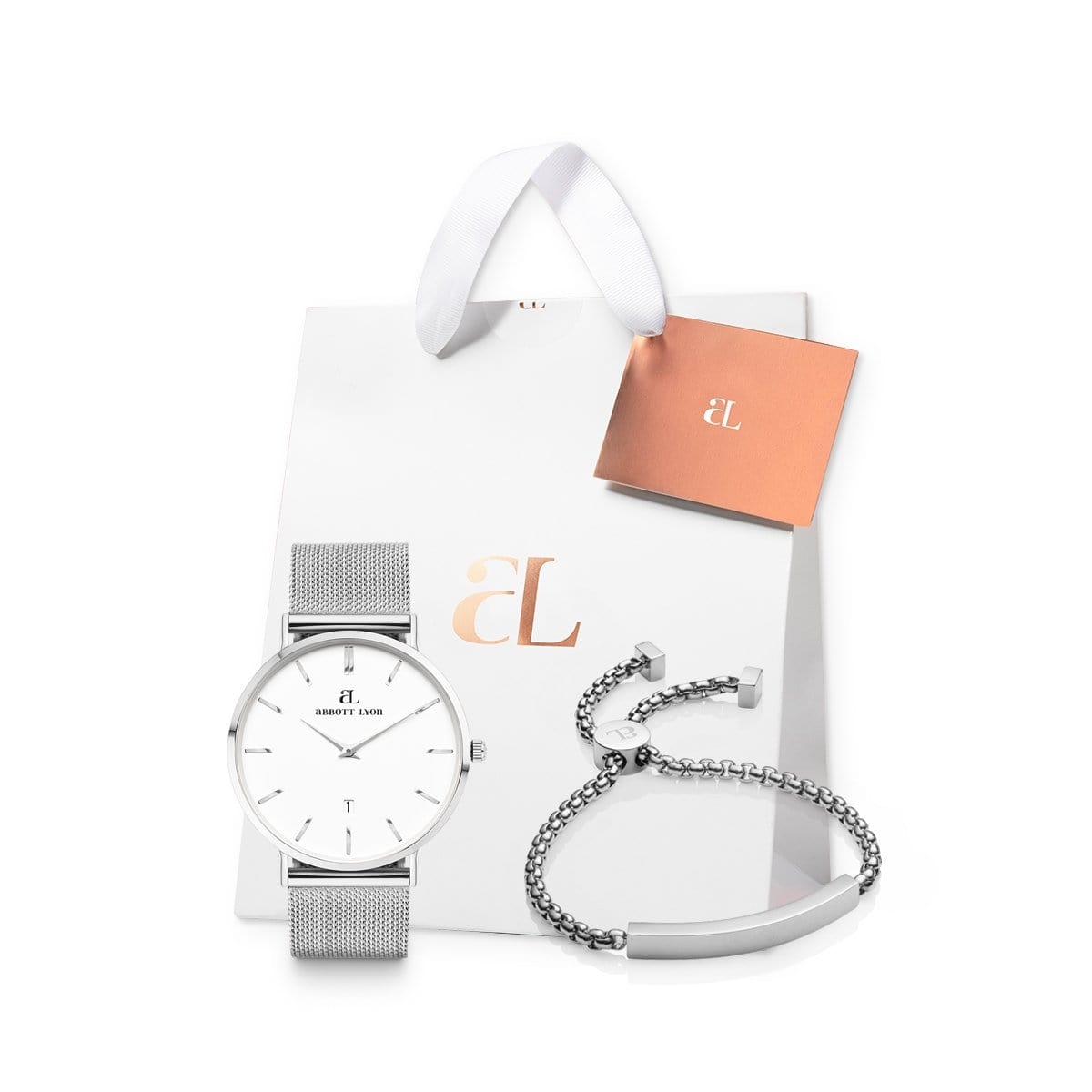 Silver Chain Kensington 40 Personalise Gift Set