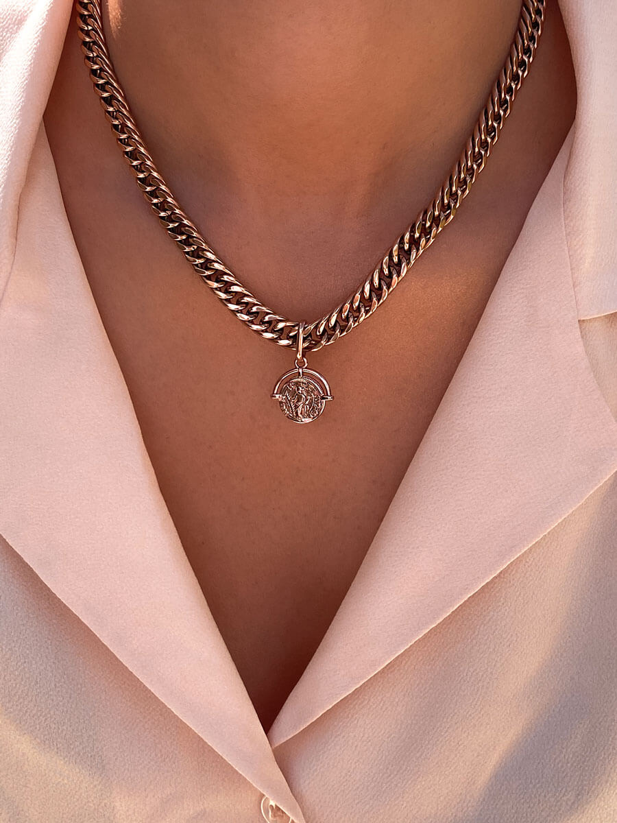 Coin Pendant (Rose Gold)