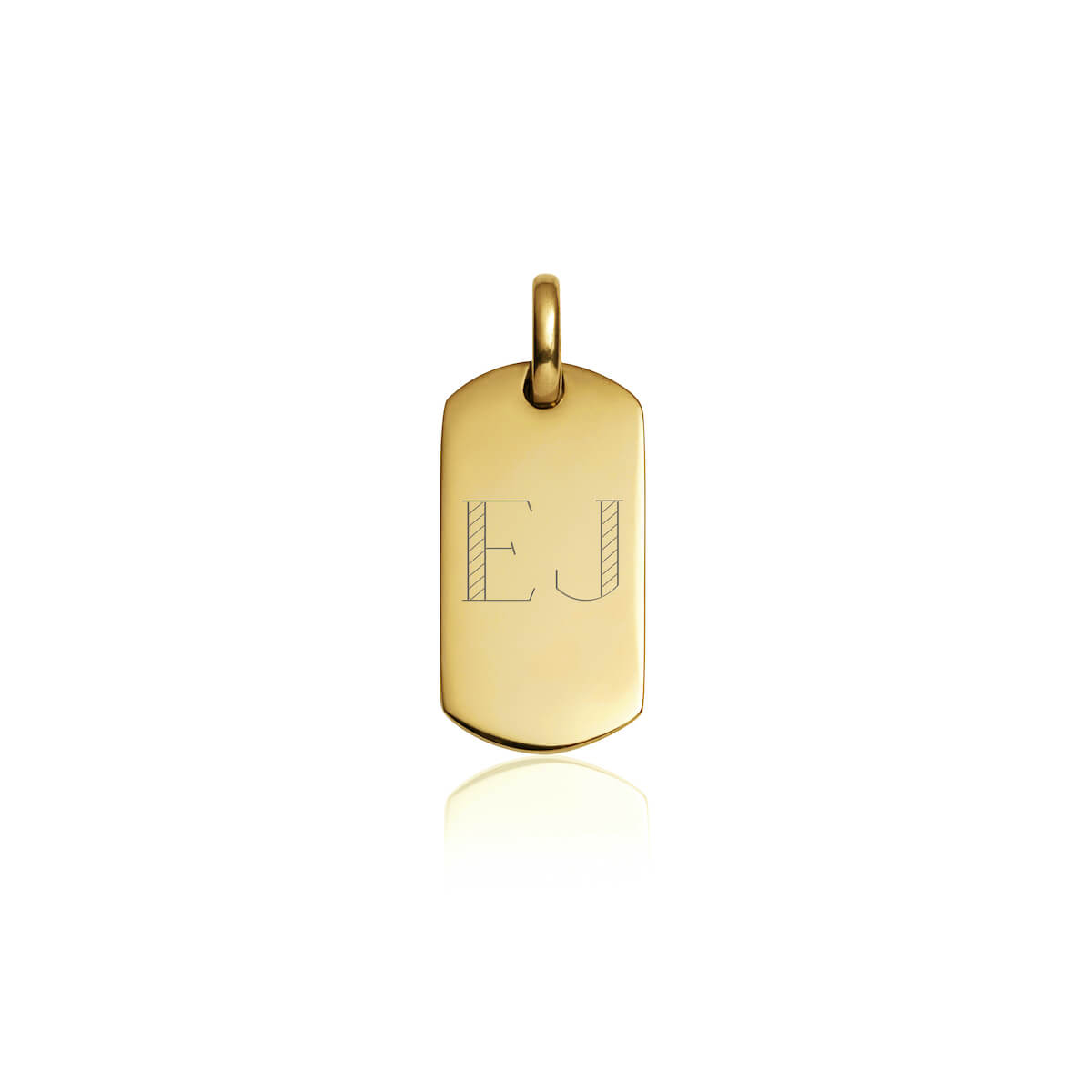 Dog Tag Pendant (Brass)