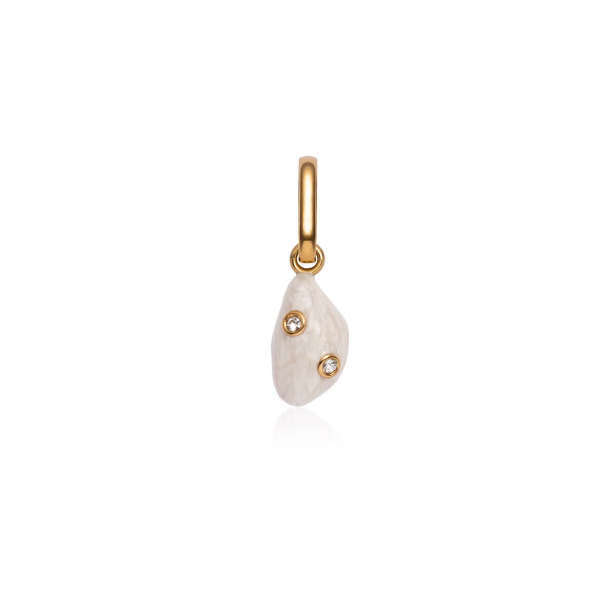 Pearl Crystal Pendant (Gold)