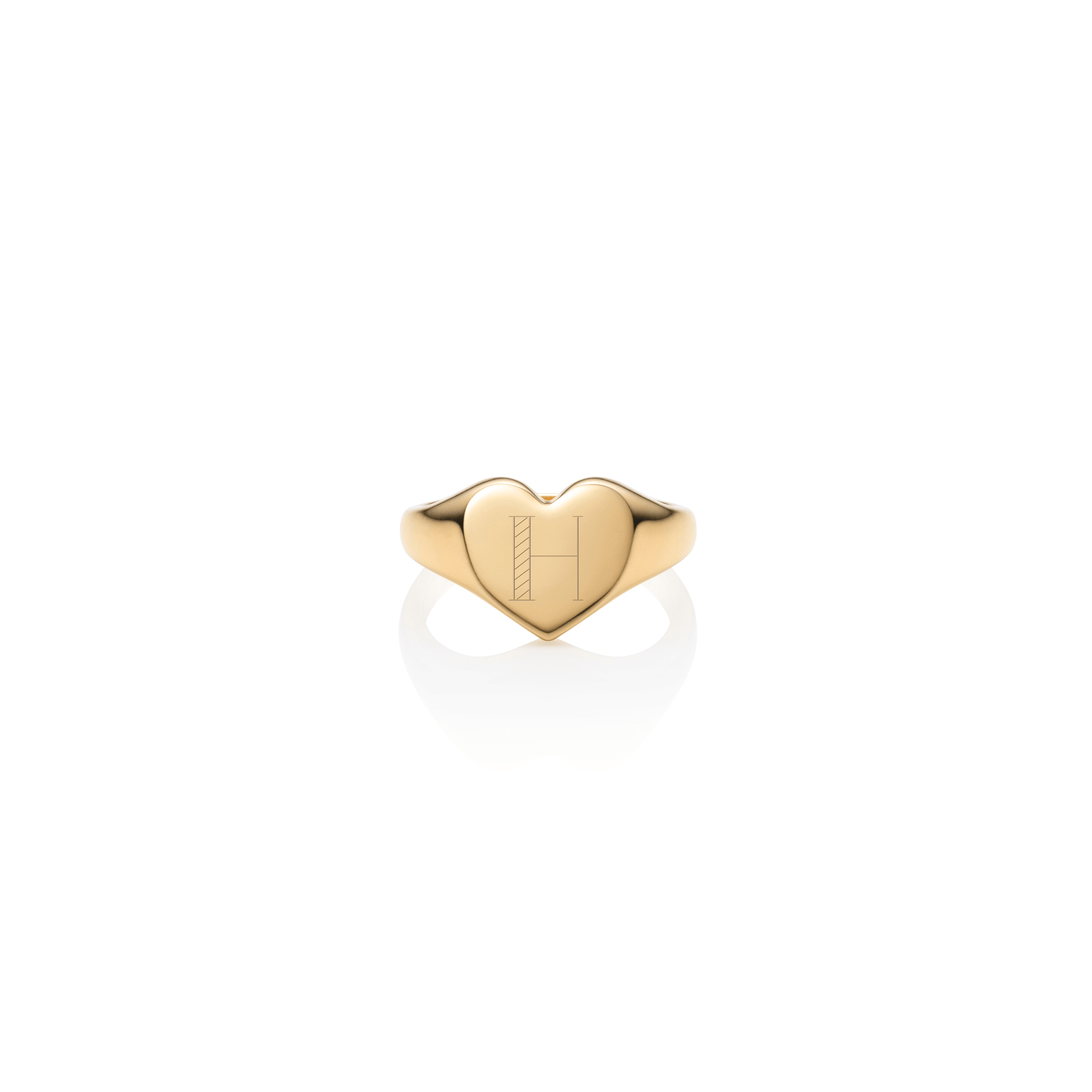 Heart Signet Ring (Gold)