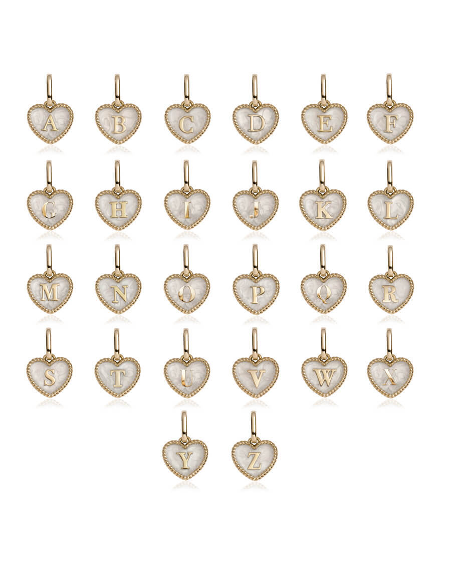 Pearl Heart Chain Necklace (Champagne)