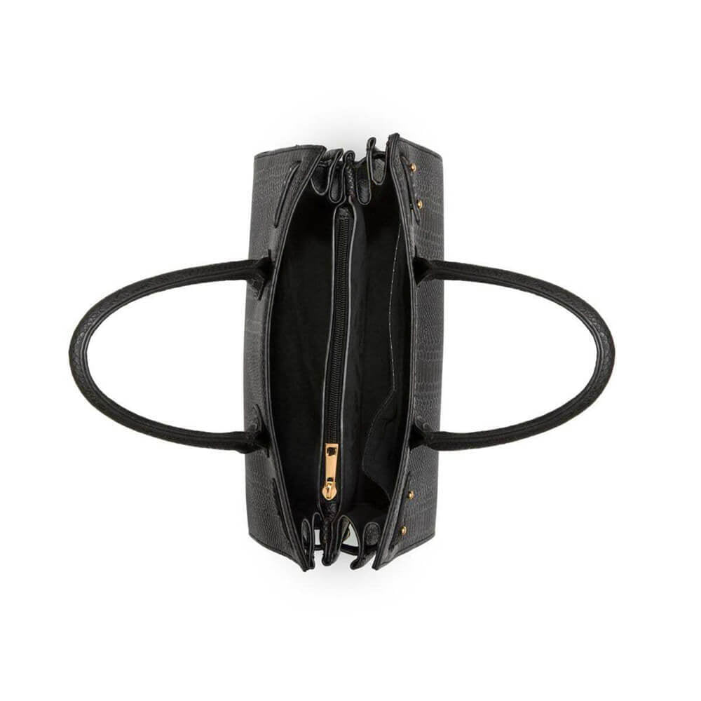 Black Isla Handbag Yellow Gold