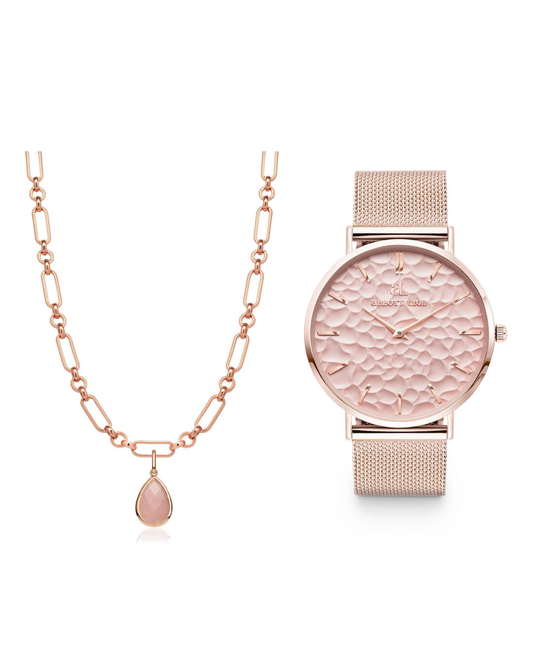 Blush Chain Pink La Ponche & Rose Quartz Figaro Gift Set