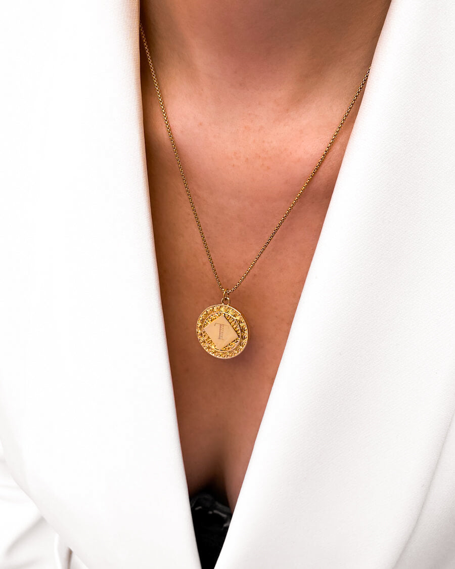 Maya Coin Necklace (Gold)