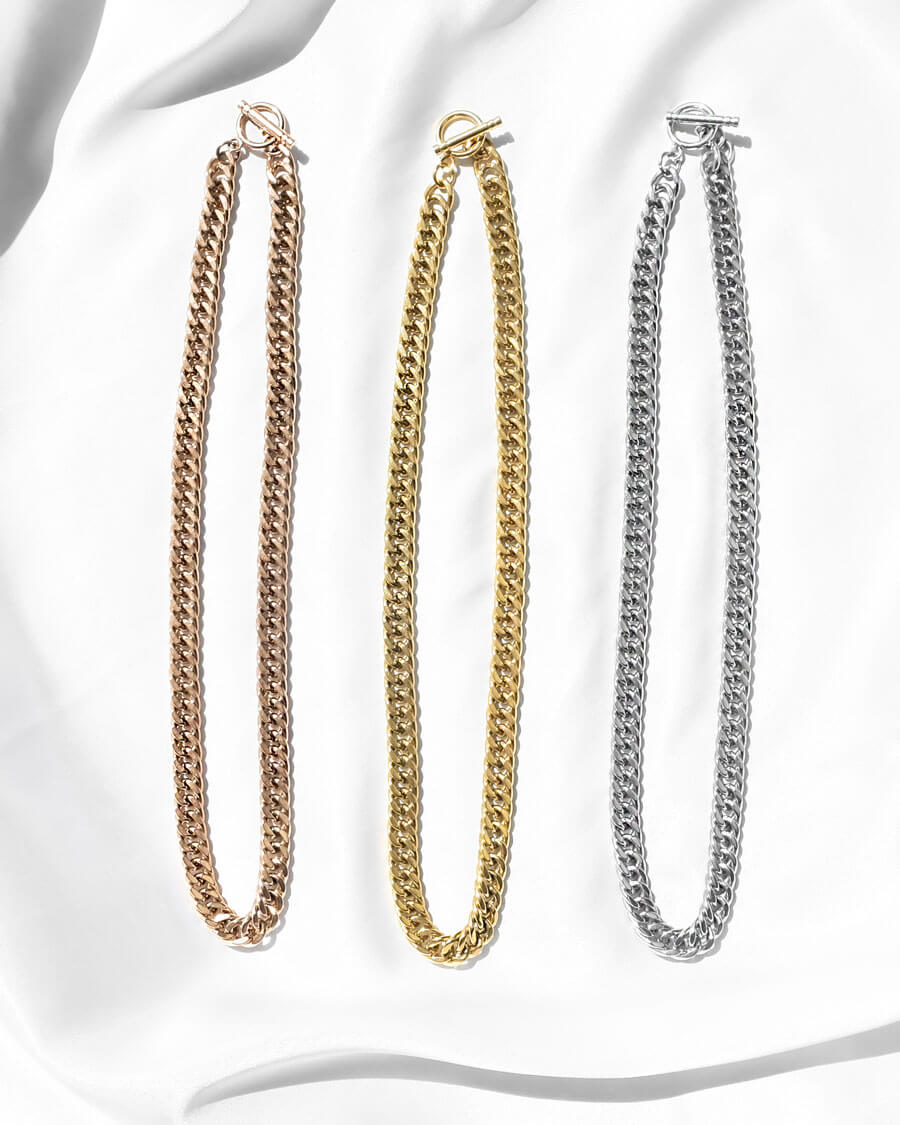 Selected Curb Chain Necklace (Gold)