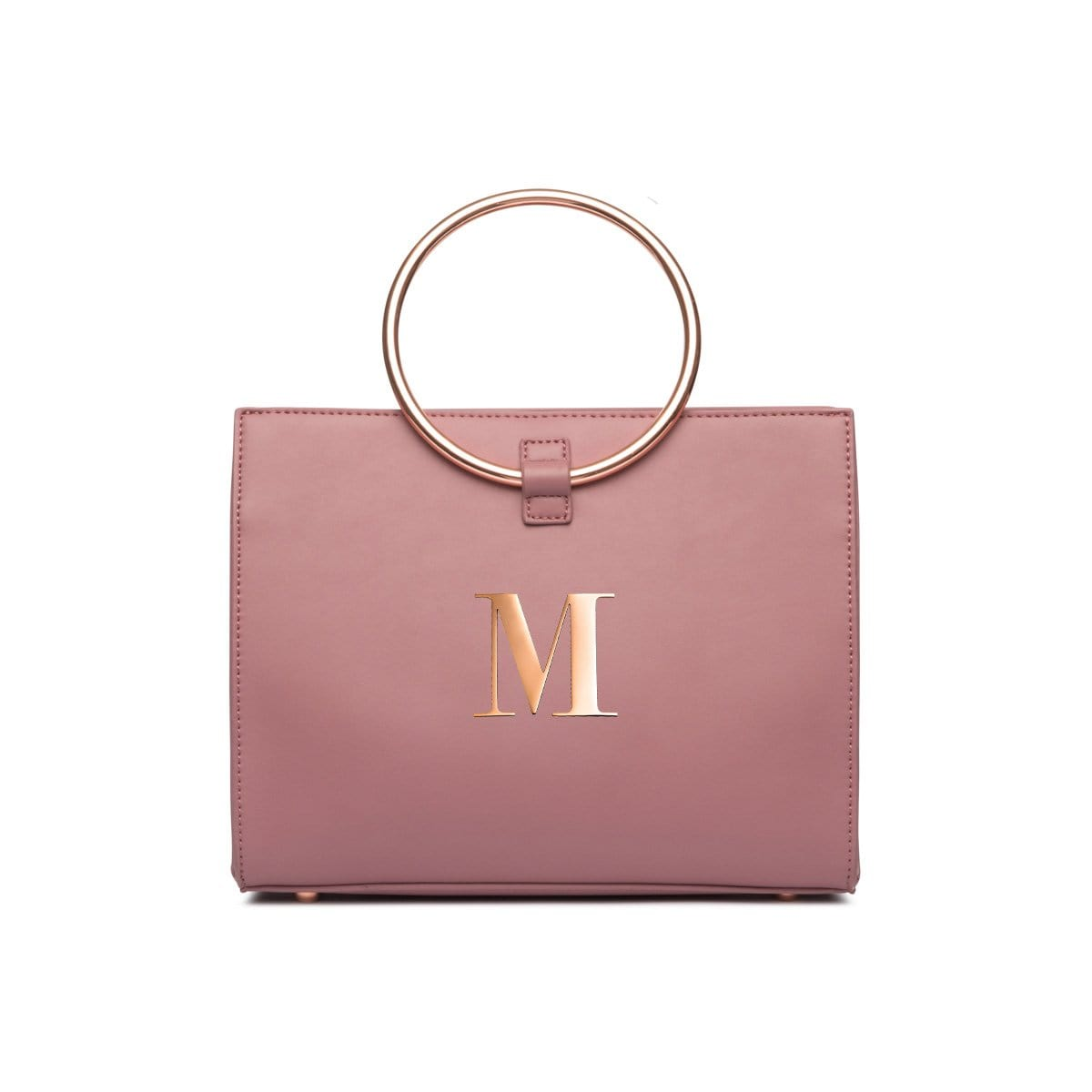 Moda Top Handle Bag (Mauve Pink/Rose Gold)