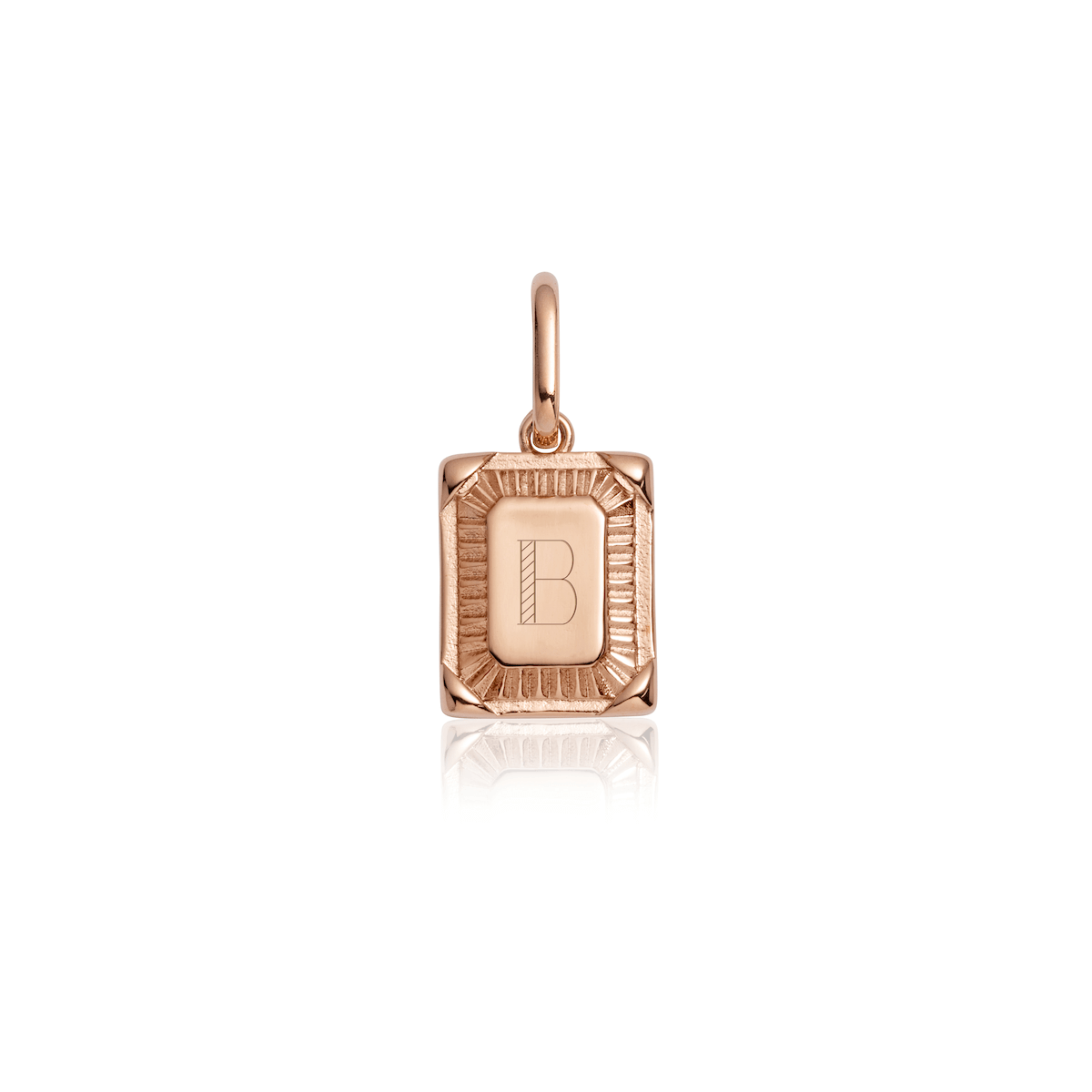 Personalise Plate Pendant (Rose Gold)