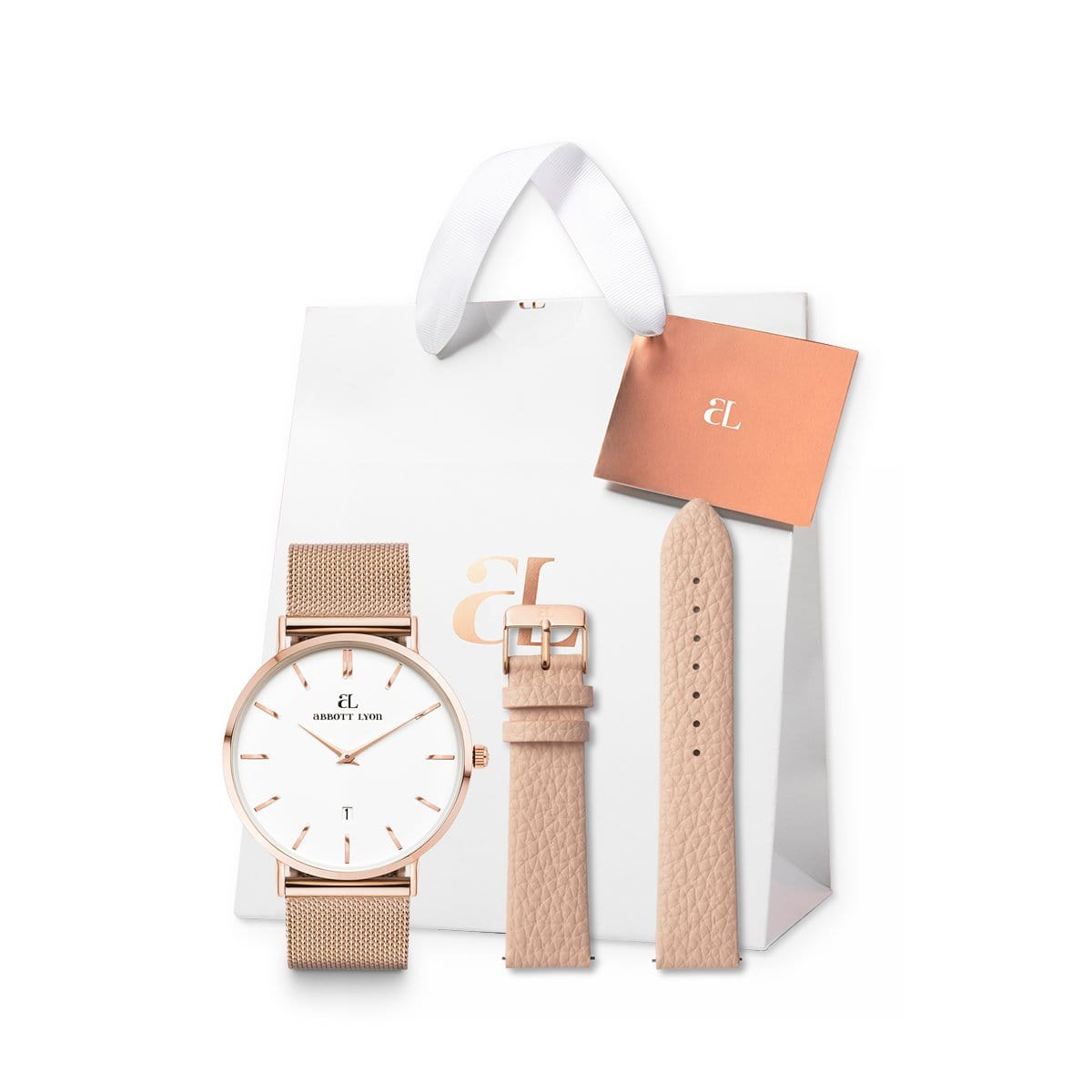 Rose Gold Chain Kensington 40 Strap Set