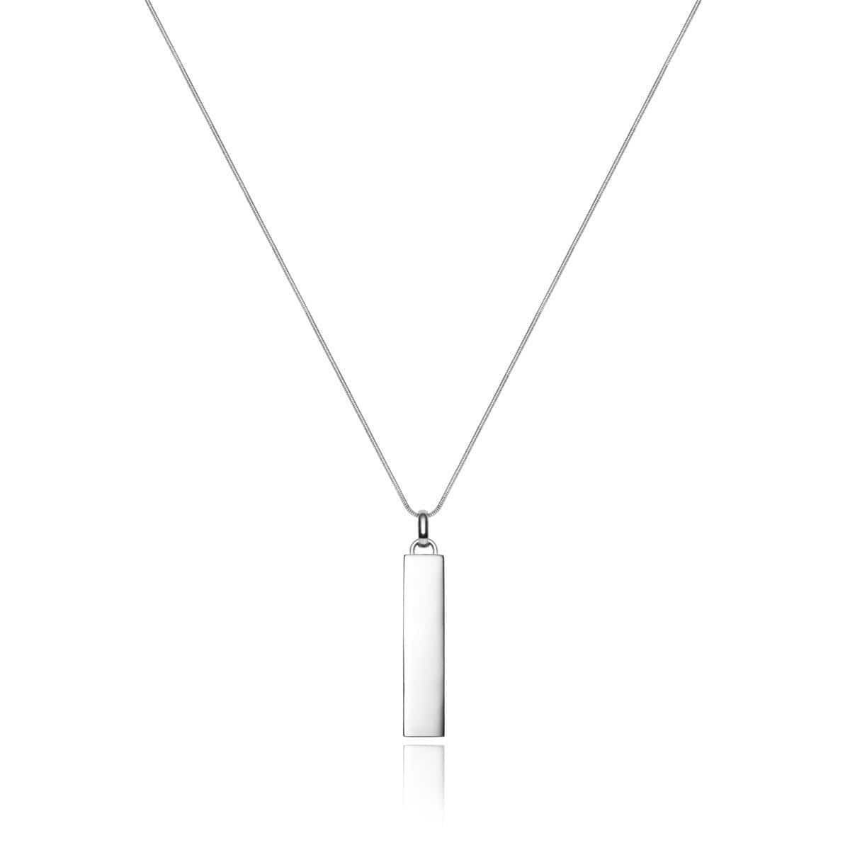 Large Lineare Charm Necklace (Silver)
