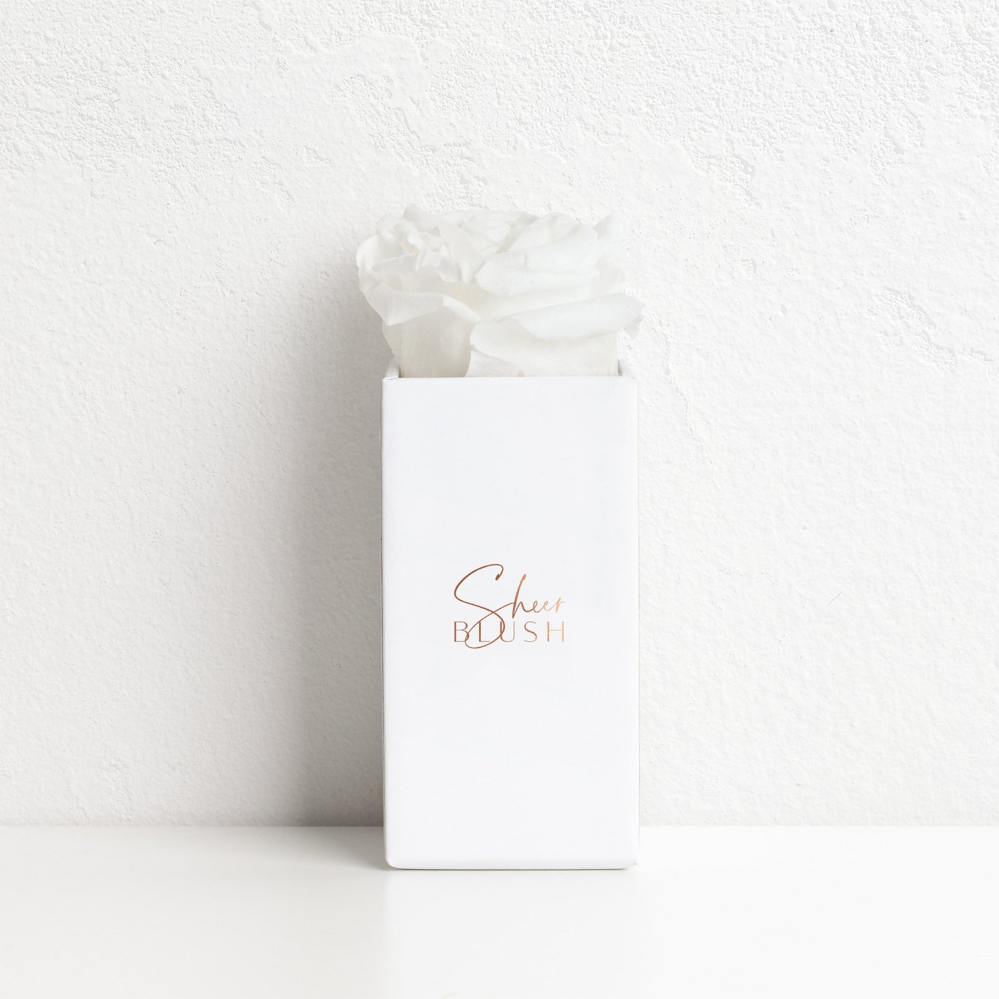 Cotton White Single Rose