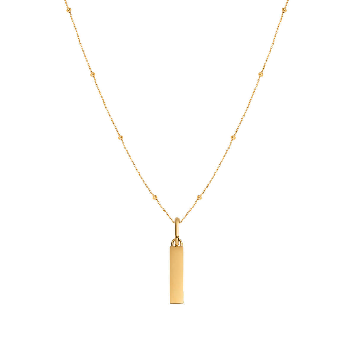 Lineare Sphere Chain Necklace (Gold)