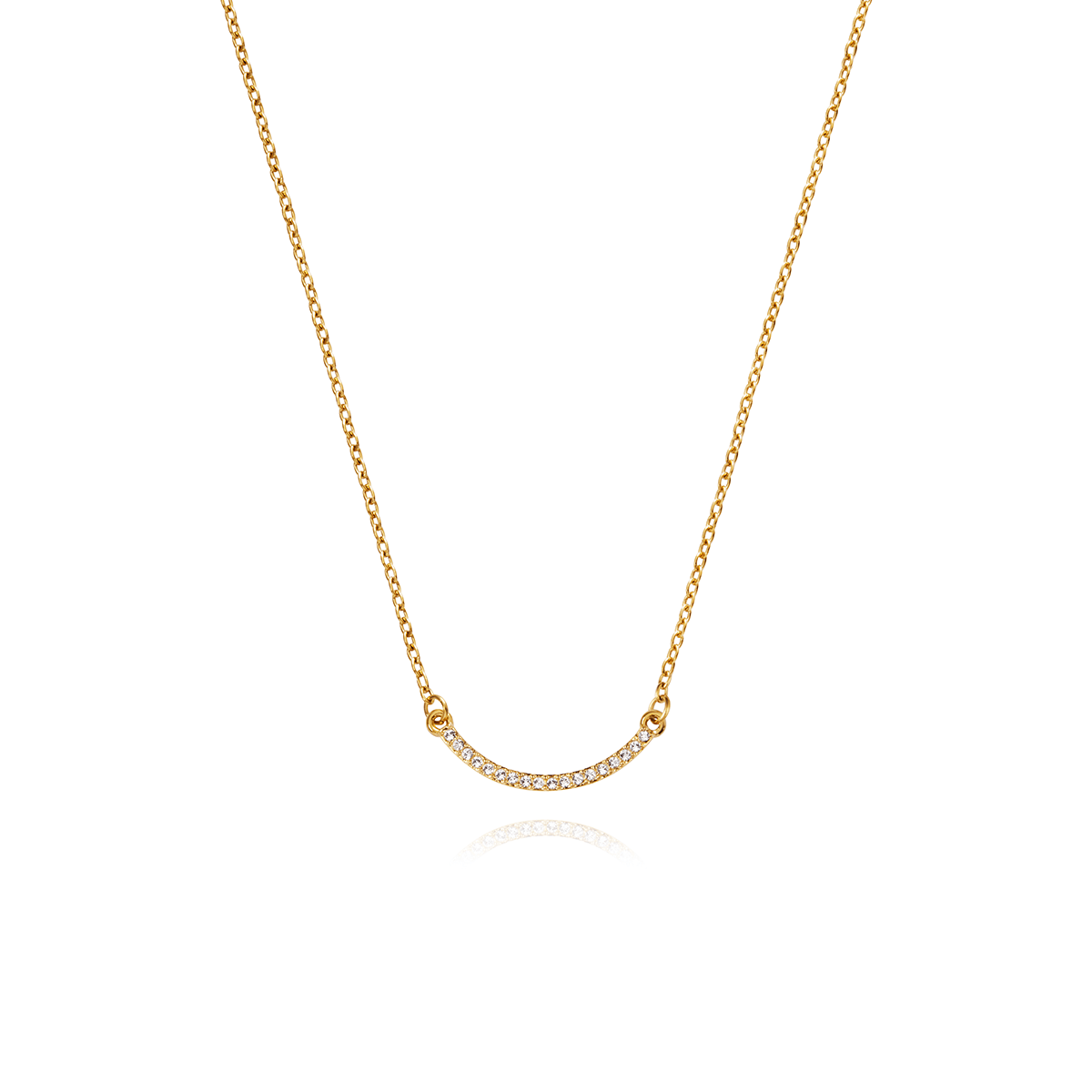 Keep Smiling Necklace (Gold)