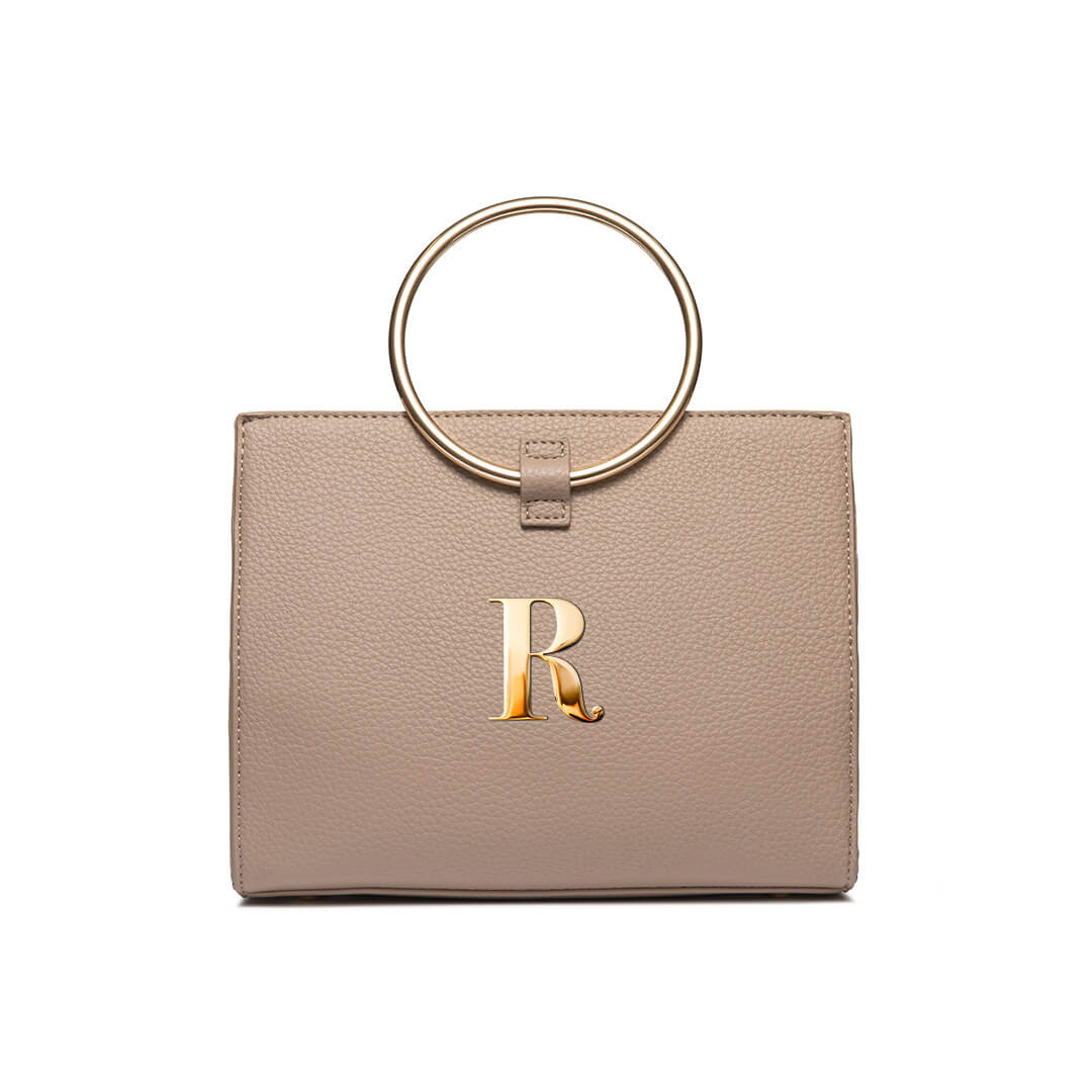 Warm Taupe Moda Handbag Yellow Gold