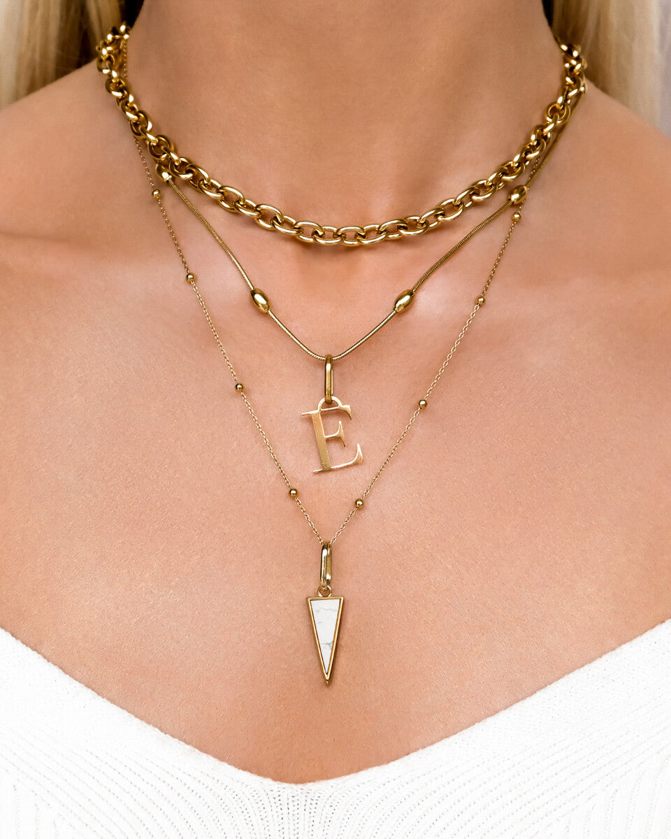 Marble Spear & Letter Layered Set (Gold)