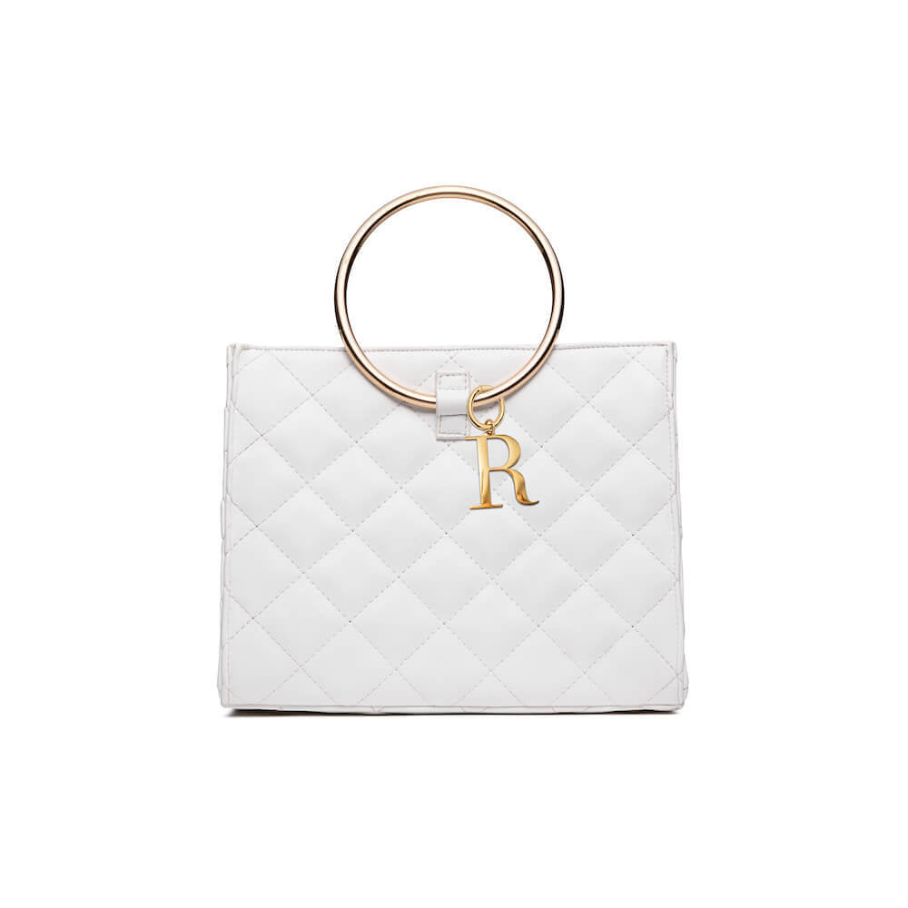 Ivory White Quilted Moda (Gold)