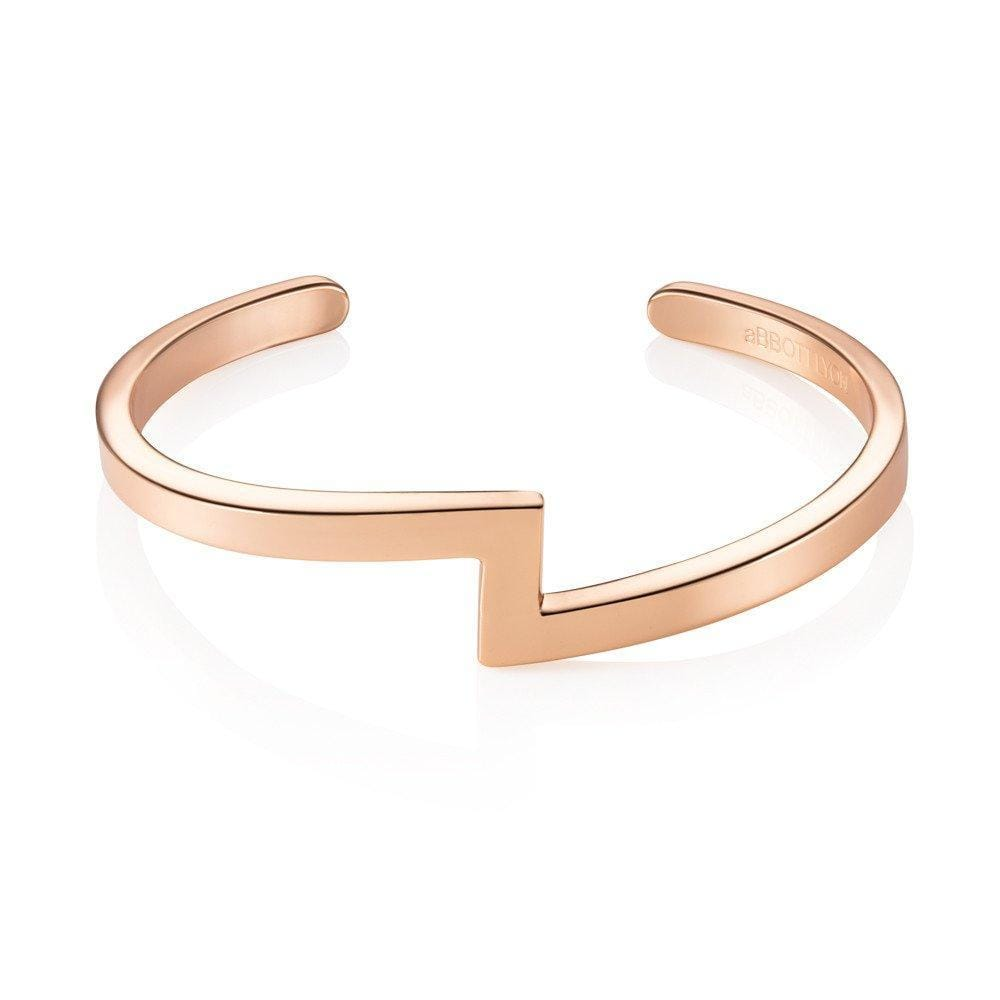 Zig Zag Bangle (Rose Gold)