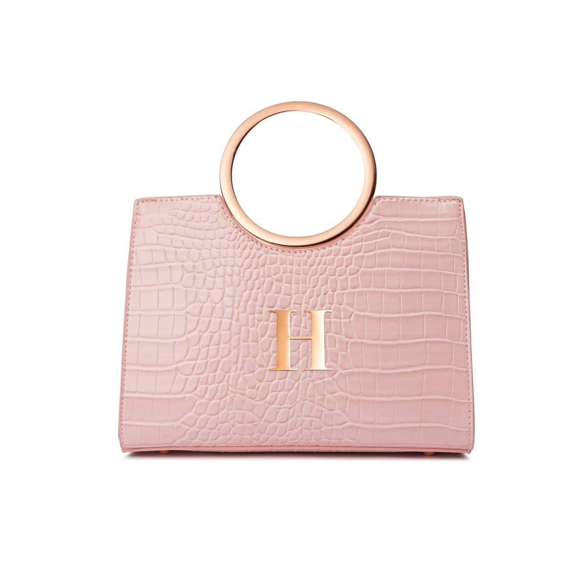 Arora Handle Bag (Baby Pink/Rose Gold)