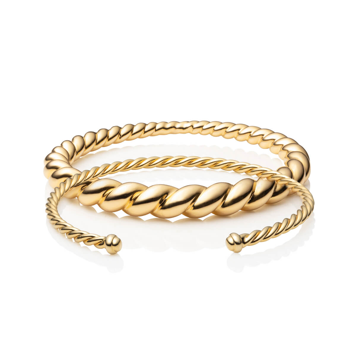 Paros Bangle Set (Gold)