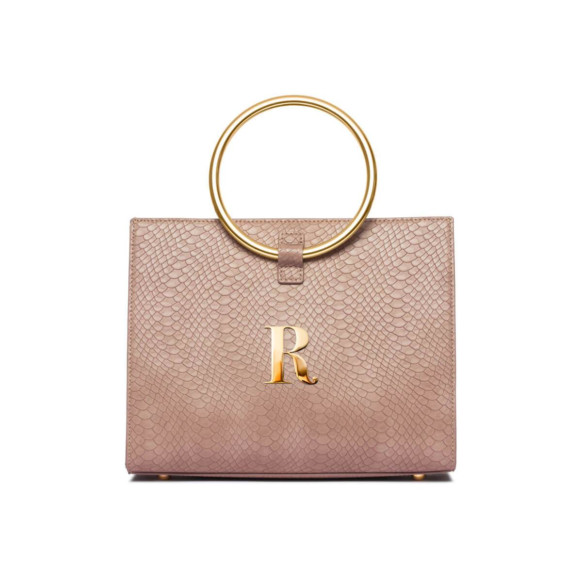 Dusky Rose Moda Handbag Yellow Gold