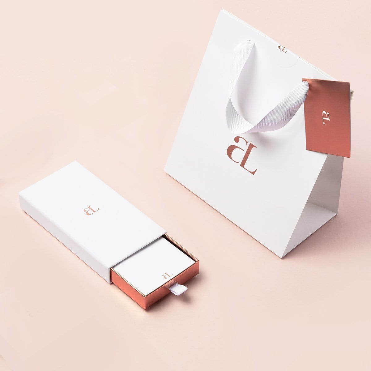 The Rose Chain Kensington 40 knot Gift Set (Rose/Rose)
