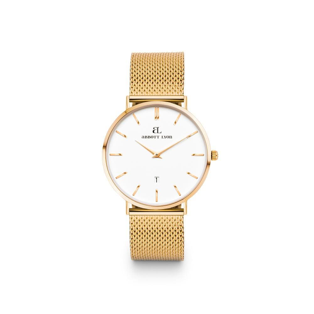 Gold Chain Kensington 34 (Gold/White)