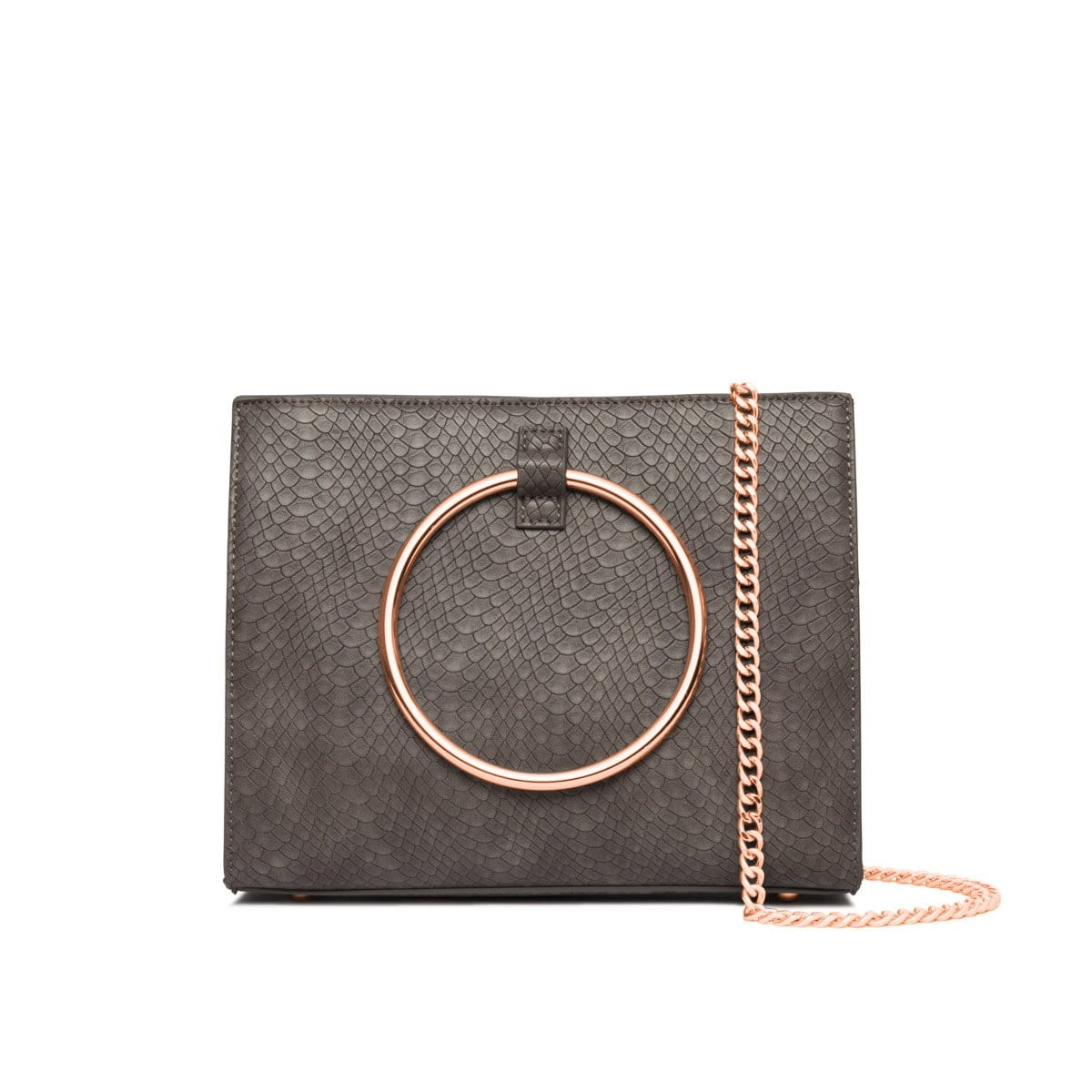 Frost Grey Moda Handbag Rose Gold