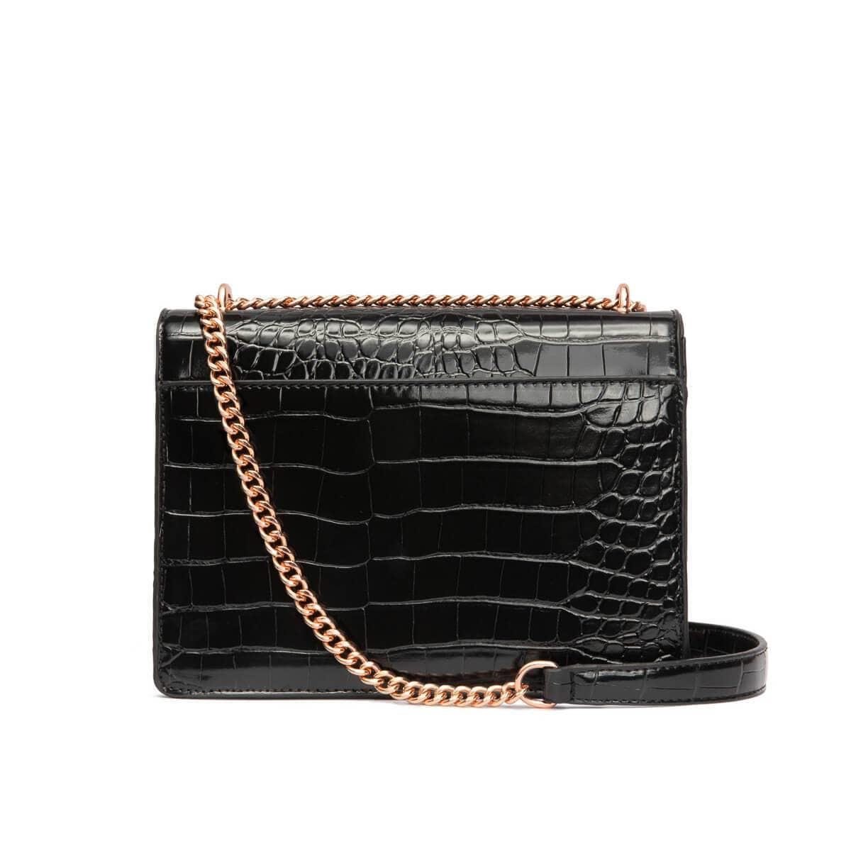 Black Jasmine Handbag Rose Gold