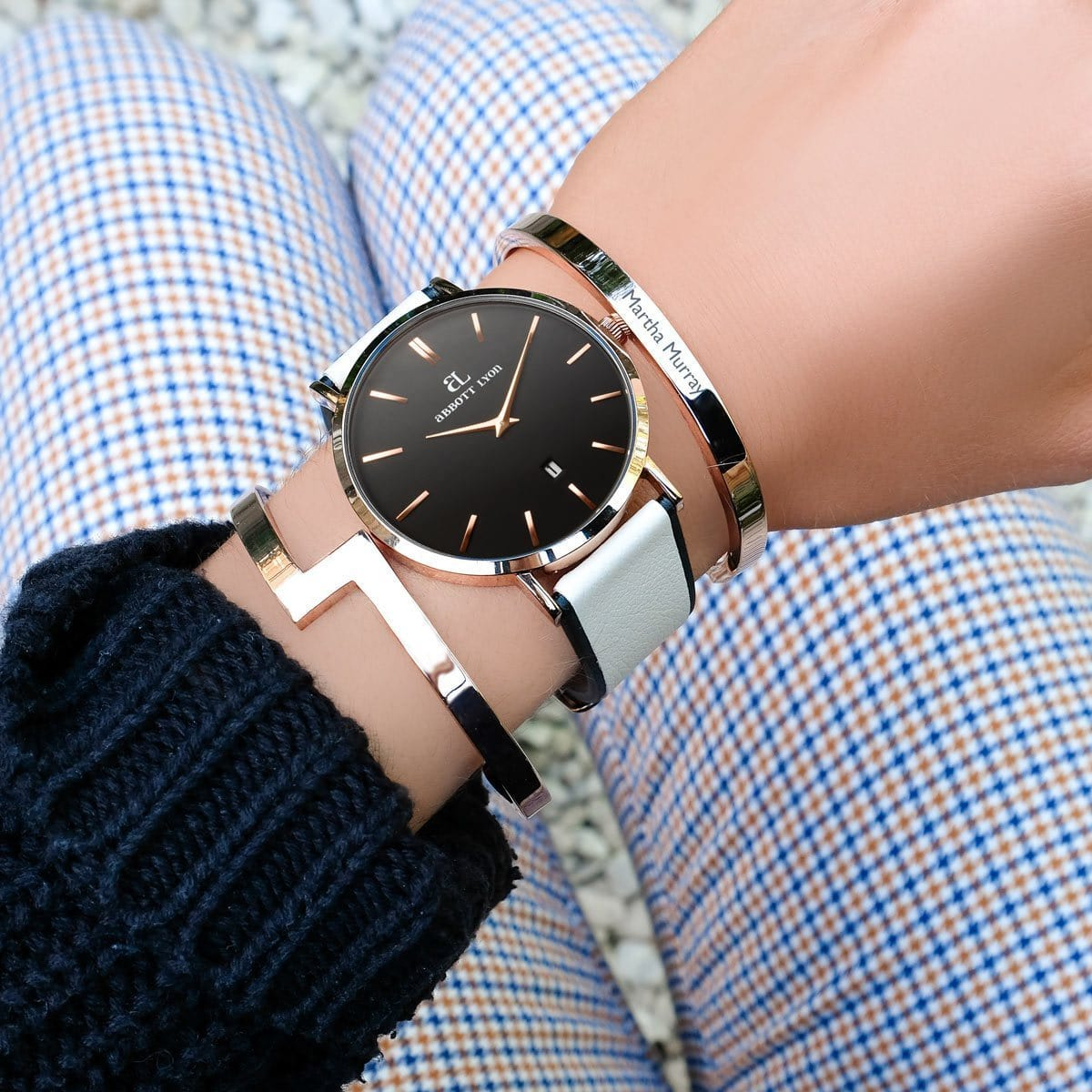 Ivory Linea 40 Strap (Rose Gold)
