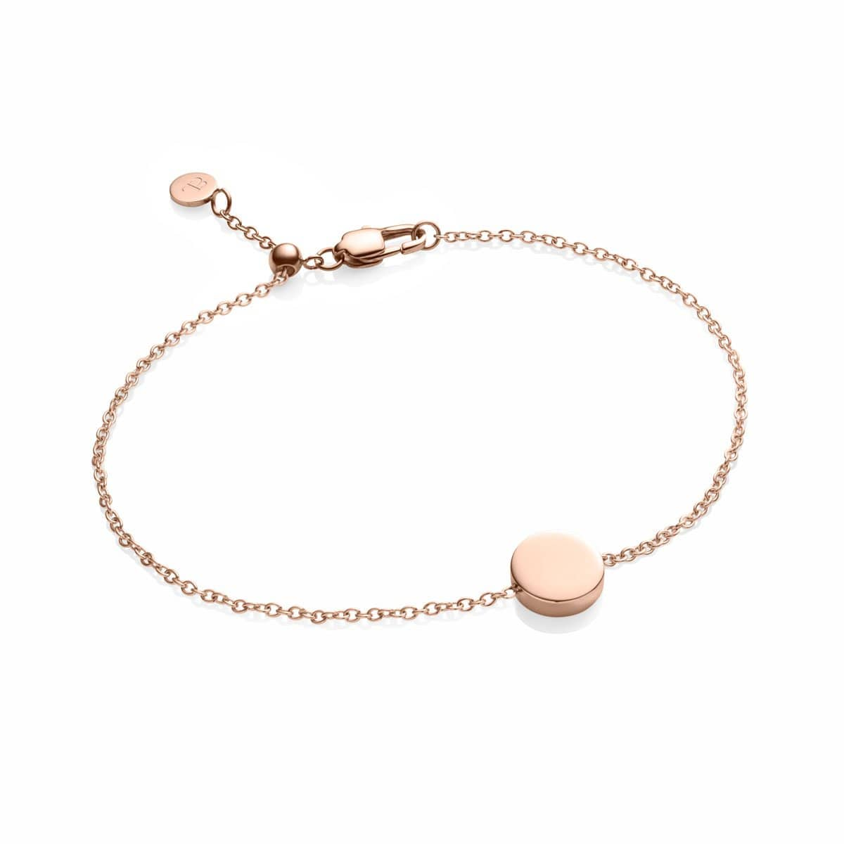 Little Luxe Disc Bracelet (Rose Gold)