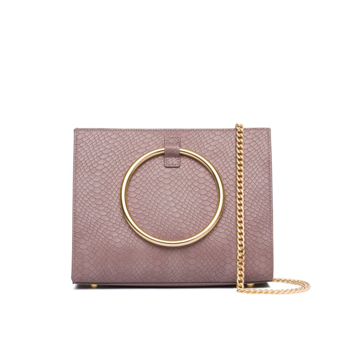 Mauve Moda Handbag Yellow Gold