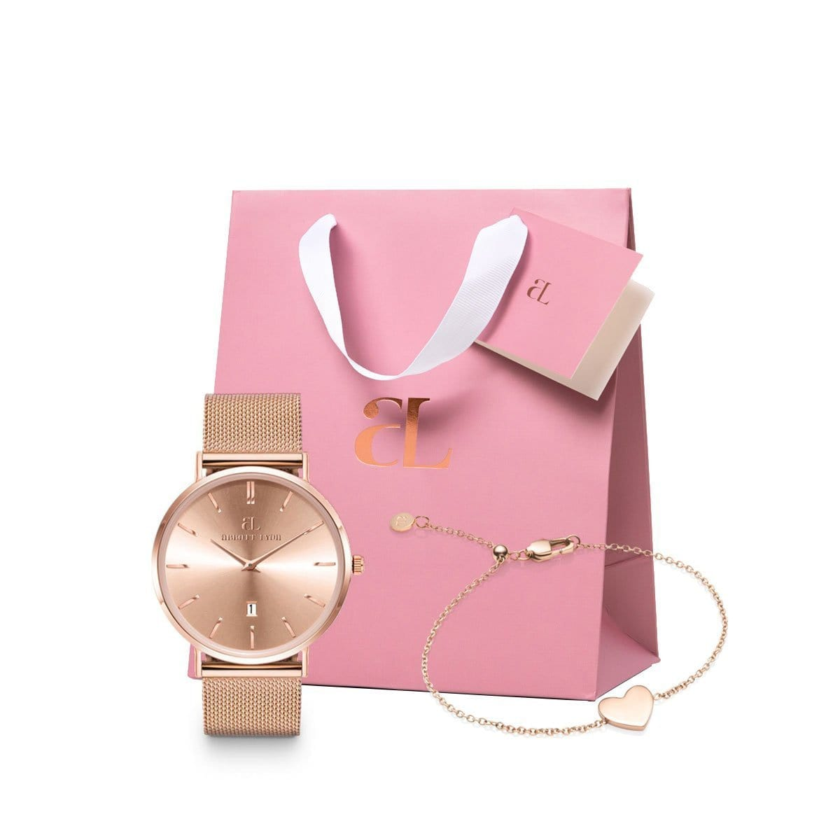 The Rose Gold Chain Stellar 40 Heart Little Luxe Gift Set (Rose/Rose)