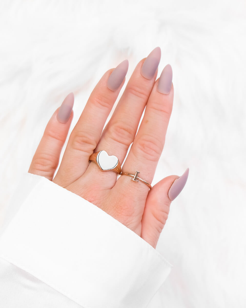 Letter Ring (Rose Gold)