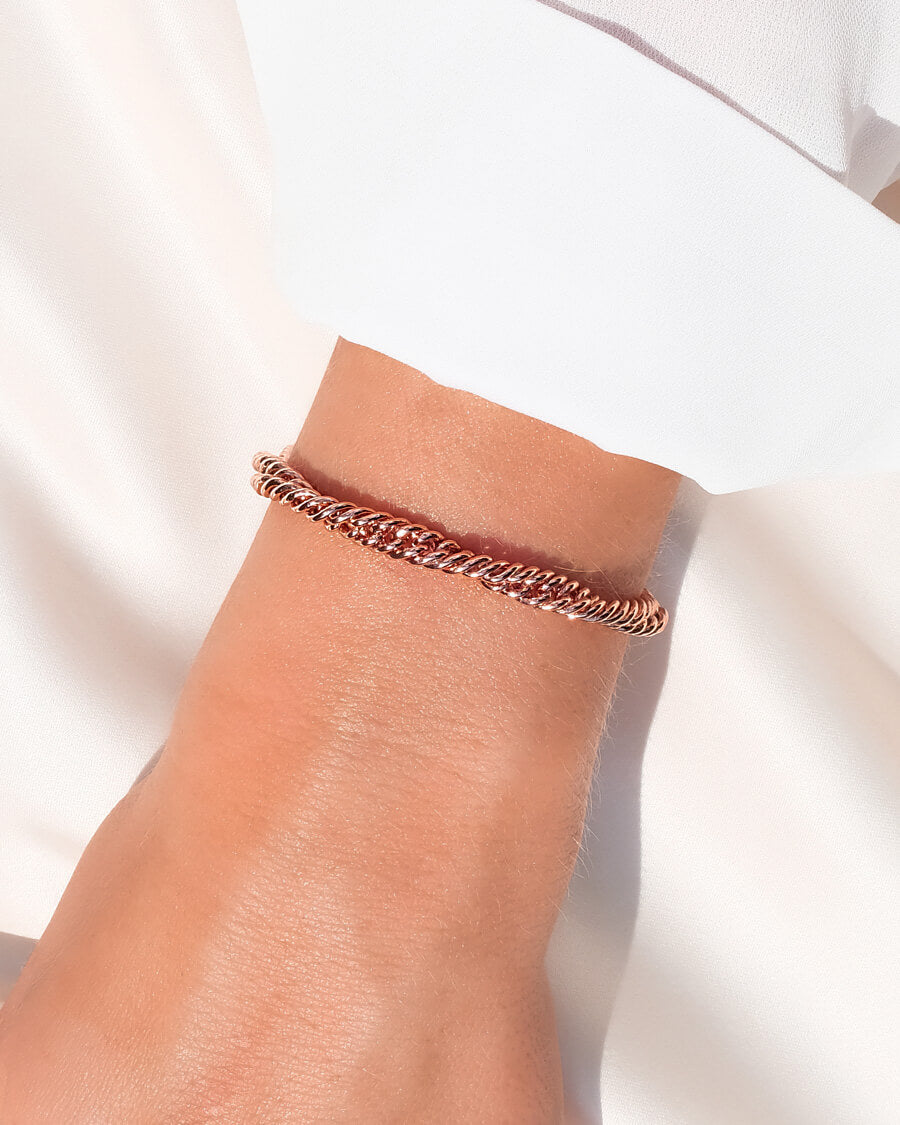 Selected Rope Chain Bracelet (Rose Gold)