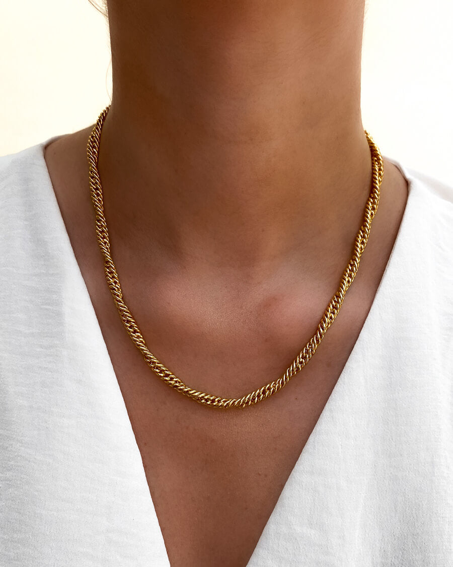 Selected Rope Chain Necklace (Gold)