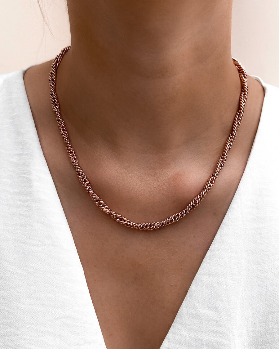 Rope Chain Necklace (Rose Gold)