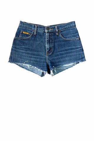 1990s Maverick Blue Denim Cut-Off Shorts
