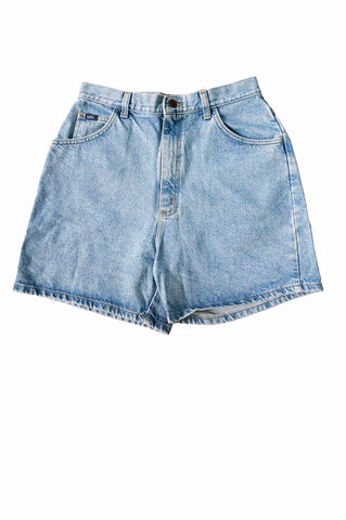 1990s Lee Light Blue Denim Shorts