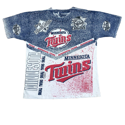 1991 Minnesota Twins World Series AOP T-Shirt (XL)
